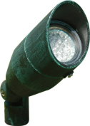 Dabmar Lighting LV190-PG Cast Aluminium Directional Spot Light with Hood Patina Green