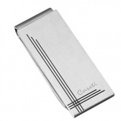 Caseti CAMC003 Caseti Gatsby Brushed Stainless Steel Money Clip