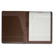 Dacasso e3401 Leather Standard Padfolio - Chocolate Brown