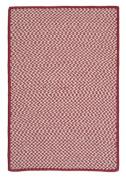 Outdoor Houndstooth Tweed - Sangria sample swatch