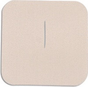 Uni-Patch 125C-LT 7.6cm . X 7.6cm . Tape Patches With Slit Low Tac Tan Tricot 100 Per Pkg