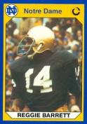 Autograph Warehouse 91271 Reggie Barnett Football Card Notre Dame 1990 Collegiate Collection No. 3