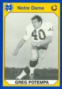 Autograph Warehouse 91334 Gary Potempa Football Card Notre Dame 1990 Collegiate Collection No. 121