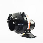 Seaflo In Line Bilge Air Blower 130CFM Boat Black Ventilation Marine 12V 2.5AMP