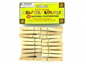 36 Pack natural wood craft clothespins - Pack of 24