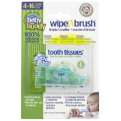 Baby Buddy Green Wipe and Brush with Tooth Tissues