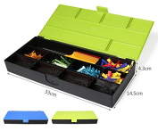 Cosmetics Collecting Box, Hair Styling Tools Box, Salon Tools Storage Case with Removable Dividers