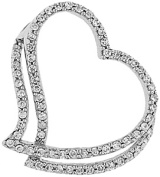 Doma Jewellery MAS01839 Sterling Silver Heart Pendant with CZ