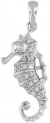 Doma Jewellery MAS01666 Sterling Silver Pendant with CZ - Seahorse