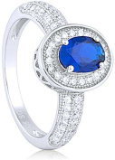 Doma Jewellery MAS09372-8 Sterling Silver Ring with Cubic Zirconia Size 8