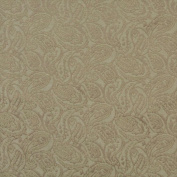 Designer Fabrics E575 140cm . Wide Olive Green Paisley Jacquard Woven Upholstery Grade Fabric