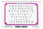 Zaner-Bloser 60cm x 41cm . 2-Hole Punched Manuscript Cover Spiralbound Chart Tablet Blue & Red Base