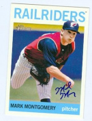 Mark Montgomery autographed baseball card (New York Yankees Trenton Railbirds) 2013 Topps Heritage Minor League No.28