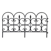 EmscoGroup 2093HD Victorian Fleur De Lis Medium Resin Garden Fence 7.9m