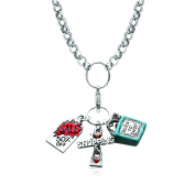 Whimsical Gifts 1101S-NL Shopper Mom Charm Necklace In Silver