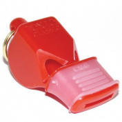 OlympiaSports WH072P Fox Classic Cmg Officials Whistle & Lanyard - Red