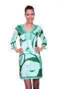 White Mark 808-016-C-112-S Womens Belinda Dress Green - Small