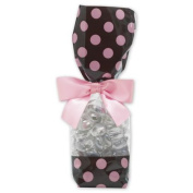 Deluxe Small Business Sales 65-DLN2-DOTBP 2.63 x 4.8cm x 27cm . Cello Bags Brown & Pink
