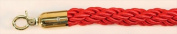 VIP Crowd Control 1776 180cm . Braided Rope with Gold Hook - Red
