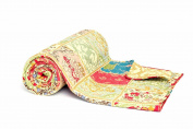 1001 Wohntraum T316 Quilt L / Orient Baroque 180 x 200 CM / Vintage Plaid Bedspread Patchwork Blanket