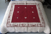 2 Seater Sofa Bed Cover Quilted Red MAELYS includes Two Cushion Covers