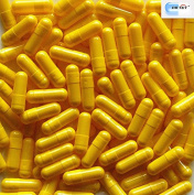 100 Empty Gelatine yellow capsules capsule for filling size 5