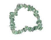 Green Snakeskin Jasper Chip Bracelet