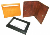 Leather In Chicago CC-1004BLK Leather Card Case With Outside Window For Id Black