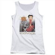 Boop-Hollywood - Juniors Tank Top White - Medium