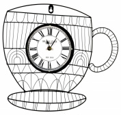 Pinnacle Strategies Llc J22601-BHYGPB Metal Cup Wall Clock