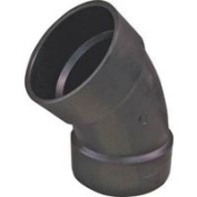 Genova Products Inc Abs Elbow 45 Deg Hubxhub 10cm 80640
