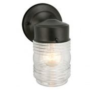 Design House 502195 Jelly Jar Outdoor Downlight 11cm x 19cm . Black Finish