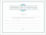Broadman Holman 04571X Certificate Baptism With Blue Foil Emboss