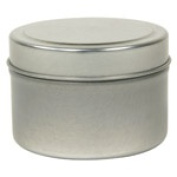 Frontier Natural Products 8662 120ml Round Metal Tin With Silver Finish