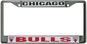 Caseys Distributing 9474601715 Chicago Bulls Chrome Licence Plate Frame