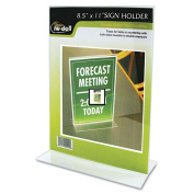 Glolite Nudell Llc 38020Z Clear Plastic Sign Holder Stand-Up 8 1/2 x 11