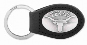 ZeppelinProducts UTX-KL6-BLK Texas Leather Key Fob Black