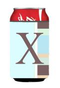 Carolines Treasures CJ1003-XCC Letter X Initial Monogram - Blue Stripes Can or Bottle Hugger