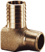 Water Source HE7501NL 1.9cm x 2.5cm . Brass Hydrant Elbow