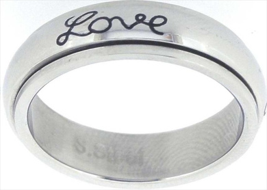 Solid Rock Jewellery 761114 Ring Faith Hope Love Spin Style 321 Size 11