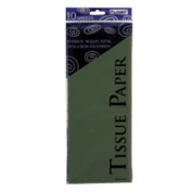Flomo TS1010 50cm x 70cm . Holiday Green Tissue Paper10 Sheets Count Case of 60