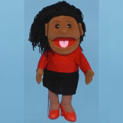 Sunny Toys GL1401B 36cm . Ethnic Mom In Red Dress Glove Puppet