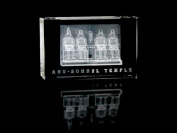 Asfour Crystal 1168-100-70 2.4 L x 4 H x 1.4 W in. Crystal Laser-Engraved Abu Sombul Temple Monuments Laser-Cut