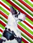 Carolines Treasures LH9236CHF 70cm x 100cm . Great Dane Candy Cane Holiday Christmas House Size Canvas Flag