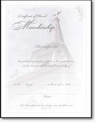 Warner Press 30899 Certificate Membership Embossed Church Steeple