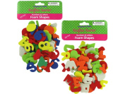 125 Pack number and letter foam shapes - Case of 12
