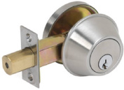 Tell Manufacturing CL100056 Satin Stainless Steel Double Cylinder Deadbolt