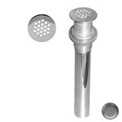 Westbrass D411-12-07 Grid Strainer Lav Drain without Overflow Holes - Satin Nickel