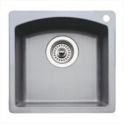 Blanco 440203 Diamond Silgranit II Single Bowl Bar Sink - Metallic Grey