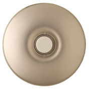 Nicor Lighting ECSBNK Wired Lighted Stucco Push Button for Prime Chime Door Bell Kit - Brushed Nickel